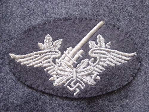 Click image for larger version.  Name:Luftwaffe Flak badge..jpg Views:381 Size:153.0 KB ID:4398