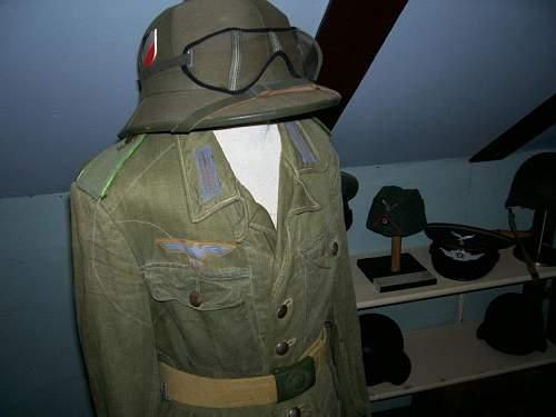 Tropical uniform with sun helmet