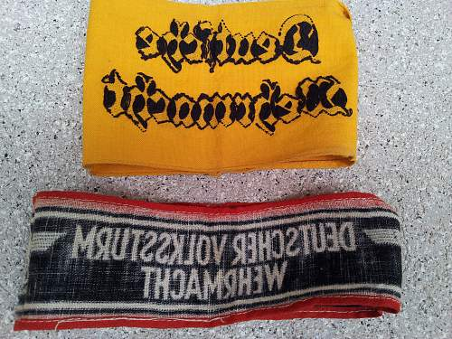 Question Armbands-Army helpers and Volksturm