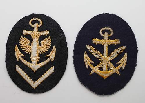 Kriegsmarine patches?