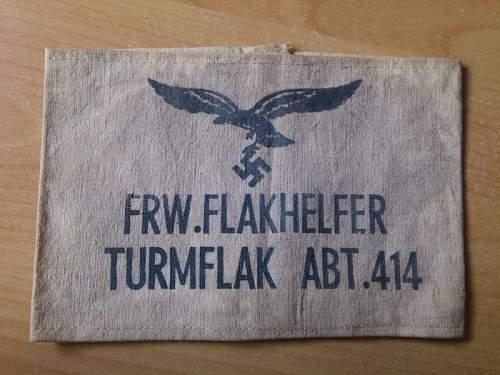 Flakhelfer armband, help