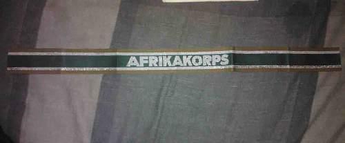 Need Opinions on AFRIKAKORPS Cuff Title Please