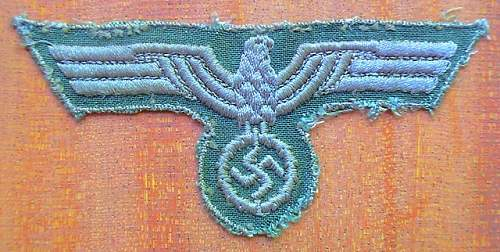 German machine embroidered eagle