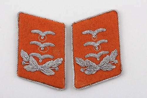 How Rare? Luftwaffe Hauptmann Collar Tabs