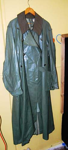 Any chance that this is a  rubberized Motorcycle Coat