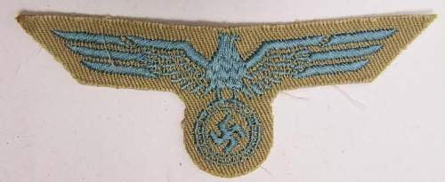 DAK Luftwaffe Breast Eagle - Opinions Please