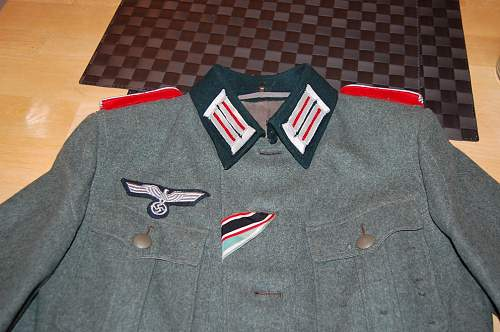 Artillery officer tunic and breeches