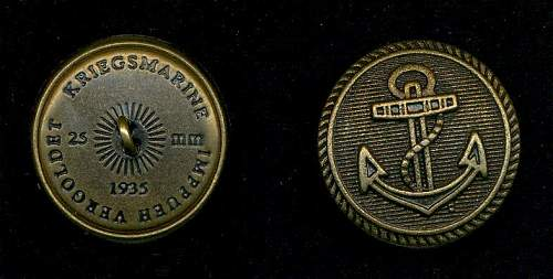 KM button marked 1935
