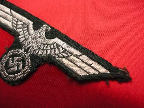 Heer flat wire cap eagle..