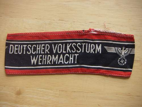 Deutscher Volkssturm Werhmacht Armband - Opinions Please
