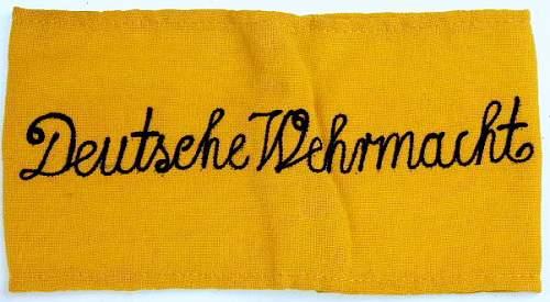Late War ' Deutsche Wehrmacht ' Armband