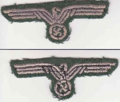 Heer other ranks cloth eagle, original or ...