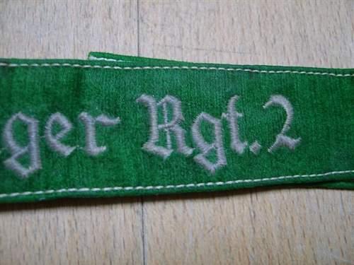 FJ Rgt.2 cuff title!