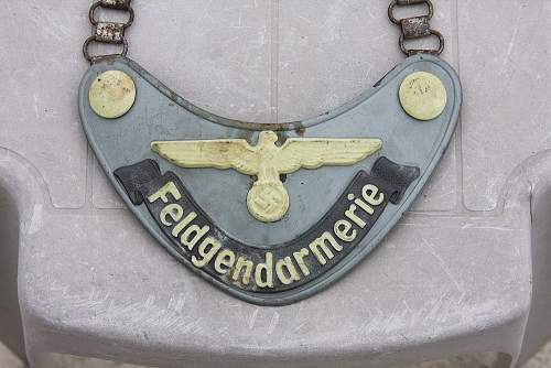 Waffen SS/ Army Field Police Gorget
