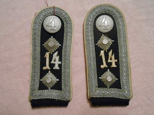 Are these shoulder boards early or late war?