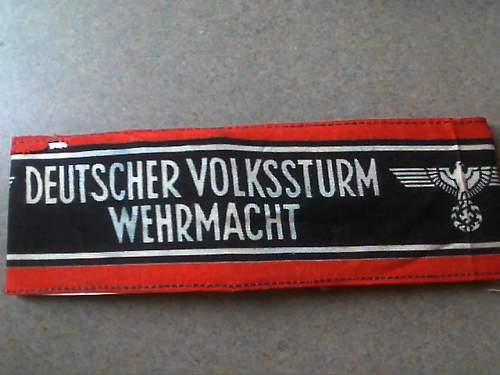 Volkssturm armband... opinios please!