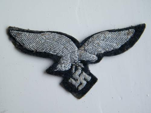 Officer's Silver Bullion Cap Eagle For Review