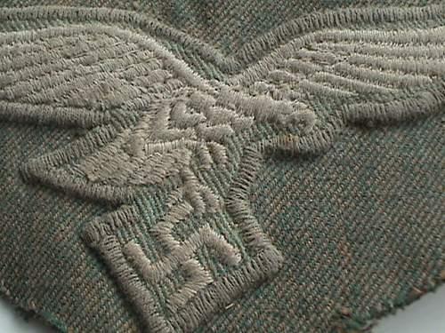 Early Luftwaffe Fallschirmjager smock eagle