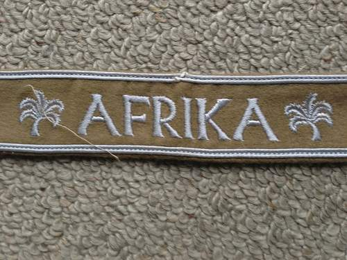 Afrika and Afrikakorps cuff titles for review