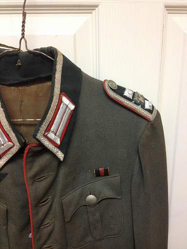 Out of the woodwork artillery tunic.