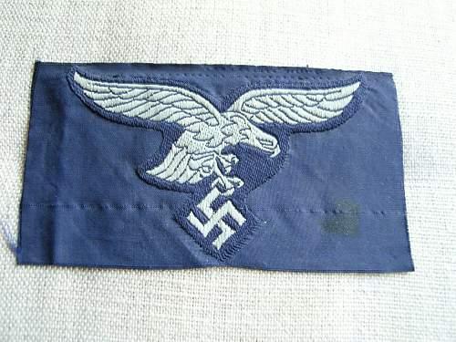 Luftwaffe blue breast eagle opinion..