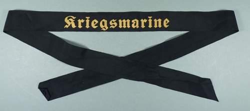 Kriegsmarine Cap Tally