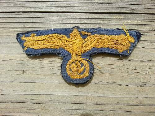kriegsmarine  embroidered breast eagle