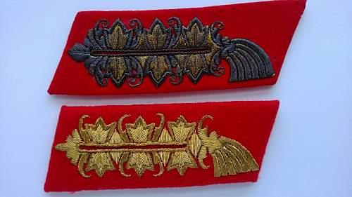 generals collar tabs