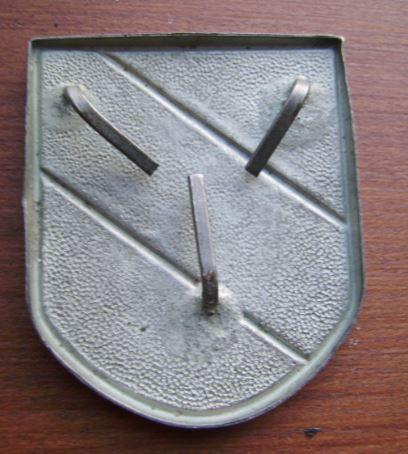 tri colour shield for a tropenhelm