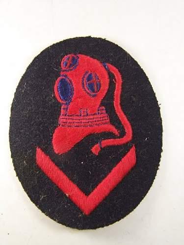 Taucher (Diver) arm branch insignia of Kriegsmarine