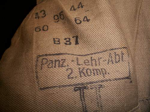 Panzer jacket my Grandfather brought home