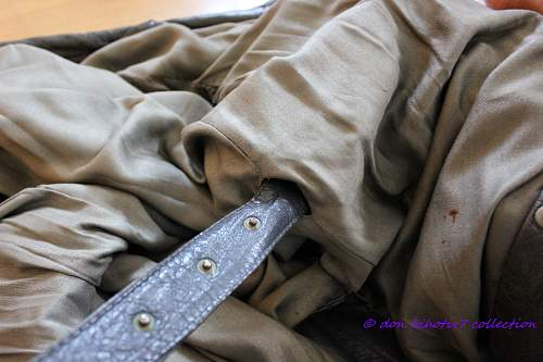 New addition: officer's leather overcoat