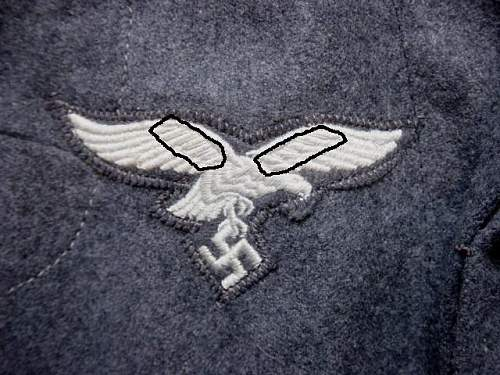 Click image for larger version.  Name:Luftwaffe breast eagle feather highlight..jpg Views:145 Size:70.9 KB ID:571839