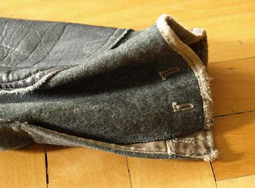 reinforced pants with leather inserts