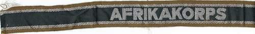 Afrika Korps cufftitle