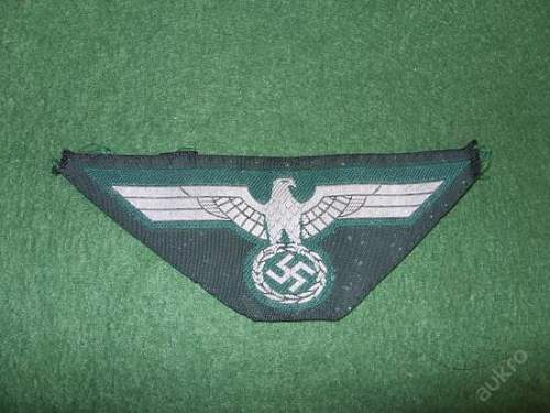 wehrmacht  breast eagle