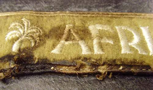 Afrika Cuff Title Blood Stained Tunic Removed