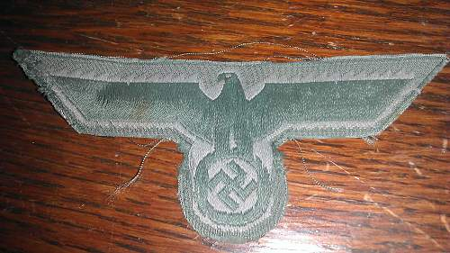 Heer Breast Eagle Patch. Second opinion please.