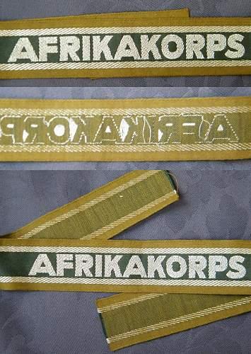 Afrikakorps cuff title.
