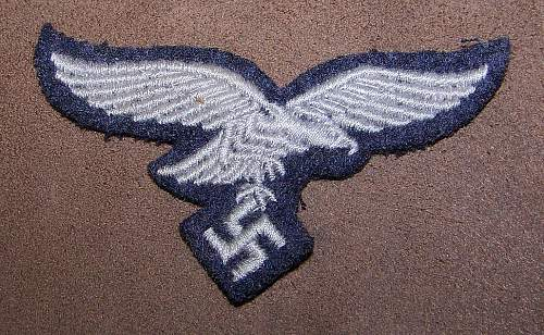 Luftwaffe Cap Eagle for review, cloth.