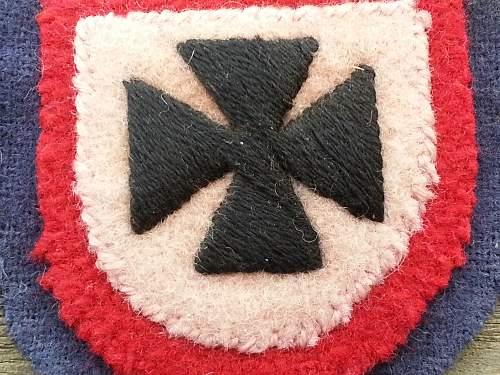 Hand made Russian volunteer sleeve shield, looks good to me!