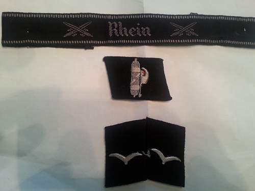 Luftwaffe Construction Collar Tabs