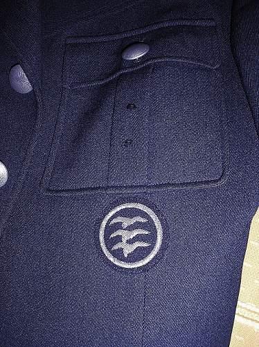 Luftwaffe tuchrock glider badge 1938.