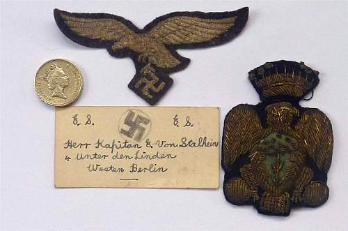 Luftwaffe breast eagle and unknown eagle