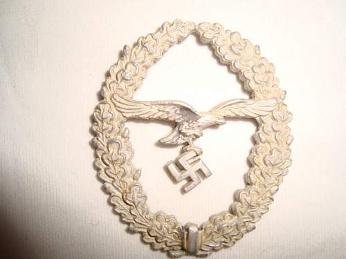 Luftwaffe lanyard device ( metal eagle )