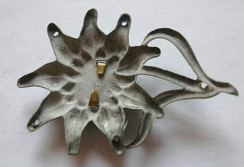 Edelweiss Cap Insignia