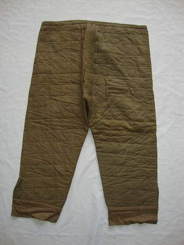 german ww2 quilted winter pants/liners  ?