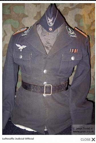 Click image for larger version.  Name:Reichskriegsgerichtsoberinspektor tunic.jpg Views:195 Size:66.0 KB ID:67649