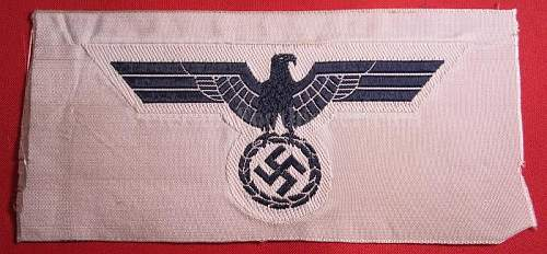 Found in grandfathers things: cloth eagle