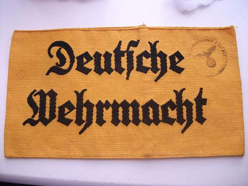 Deutsche wehrmacht armband received today